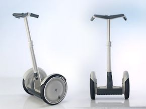 The Segway consists of four major elements: the wheel and motor assembly, the sensor system, the circuit board brain and the operator control system.