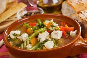 A bowl of vegetable soup can actually help your dental health.