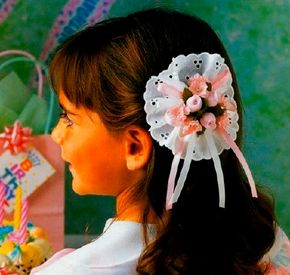 The Lace-n-Flowers barrette will dress up any outfit.