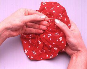Sew ends together.