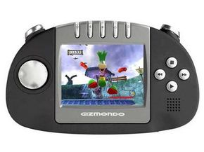 The Gizmondo is a handheld gaming console -- but it's also an MP3 player, a camera, a movie player, and a GPS reciever. See more video game system pictures.