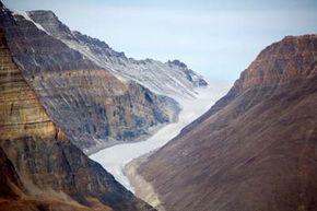Greenland, glacier near Myggebuten