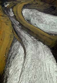 Aerial view of moraines in Norway