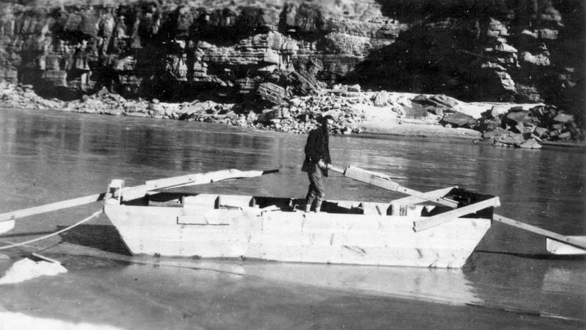 Glen Hyde, pictured here, set off on a voyage through the Grand Canyon for a honeymoon with his wife, Bessie. The trip was ambitious, but it didn't go as planned. public domain