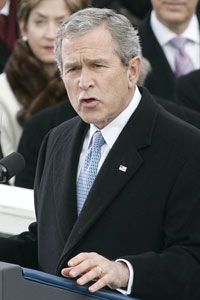 George W. Bush framed American foreign policy as dedicated to spreading democracy in his second inaugural address in 2005.