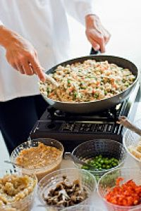 Try risotto with vegetables as a substitute for pasta.