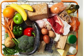 All the foods pictured in this basket are naturally gluten-free.