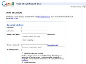 Setting up an account with Gmail is easy.