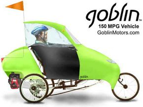 The Goblin Aero is a velomobile. See more green science pictures.