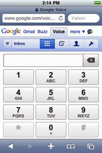 To use Google Voice without the dedicated application, you'll have to visit the mobile Web site.