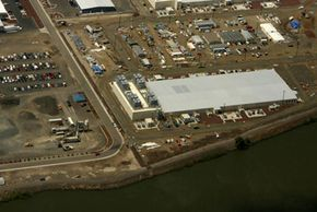 One of Google's data centers in Oregon, which is the size of an American football field and holds thousands of servers.