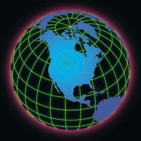 Virtual globes are actually made up of polygons.