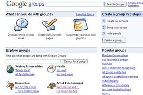 Google Groups has several features that can help you keep in touch with friends, connect with people who have similar interests, and organize projects and presentations. See more pictures of popular web sites.