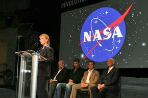 NASA Deputy Administrator Shana Dale affirms the space agency's support for the Google Lunar X Prize competition. Dale pointed out that the contest would not only foster innovation, but also encourage children to become interested in space exploration.