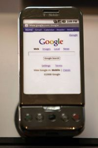 Cell Phone Image Gallery The HTC G1 is the first phone to feature the Google Android OS. See more cell phone pictures