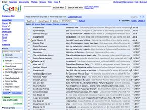 Gmail organizes e-mails into threaded conversations.