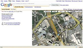 The Google Maps satellite view gives you a birds-eye perspective of cities like Atlanta, Ga.