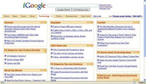 iGoogle acts as a portal to other Web sites.