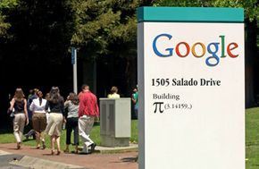 Some of Google's buildings have geeky names, like Building Pi.