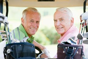 Head out to the golf course! You'll get in a low-impact workout along with some time socializing with friends. See more healthy aging pictures.