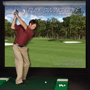 Cold and snowing outside? Full Swing Golf's simulator allows you to play 50 courses with your own clubs and balls indoors.