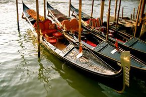 Clearly gondolas offer a plush ride through Venice. See more pictures of Italy.