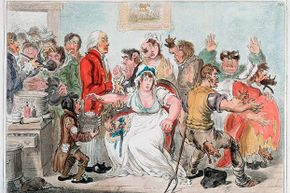 Vaccine skepticism is nothing new. This 1802 cartoon depicts public fears about being inoculated with cowpox in order to be immune to smallpox.