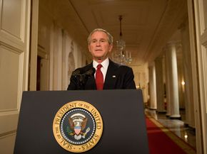 Pres. Bush addresses the nation on the economic crisis on Sept. 24, 2008. See more recession pictures.