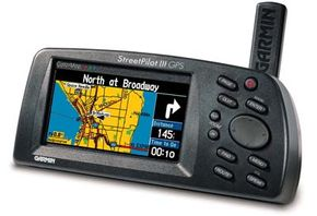 The StreetPilot II, a GPS receiver with built-in maps for drivers