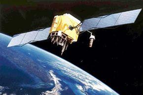 A GPS satellite in orbit.