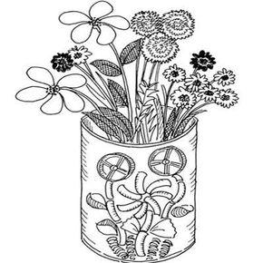 Golden Vase Grandparent's Day Craft