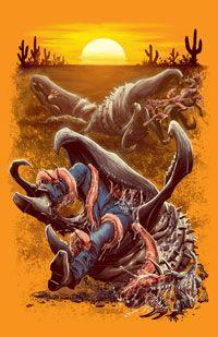 Graboids drag down prey with their sluglike tentacles.