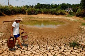 The global water crisis affects the water supply all over the world, including China (above). See pictures related to green living.
