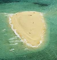 Many low lying islands called coral cays are found throughout the Great Barrier Reef region.
