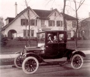 The vehicle that changed the thought and transportation patterns of Americans as surely as railroads had altered personal travel in the 1830s was the Ford Model T. Inexpensive and trustworthy, coupes like this 1919 model allowed travelers to go wherever and whenever they pleased.