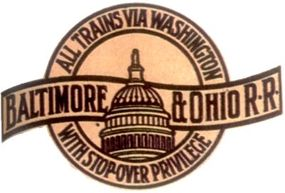 The B&O logo featuring the nation's capitol dome was first developed in the 1890s as an appeal to the patriotic fervor of Americans wishing to see Washington, D.C. This version of the company icon highlighted the services of the newly air-conditioned Capitol Limited of 1934.