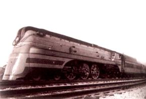 The Milwaukee road's crack Hiawatha trains were homegrown streamliners. The cowling on the locomotive suggested speed and made it resemble a diesel locomotive. These trains routinely hit 100 mph.