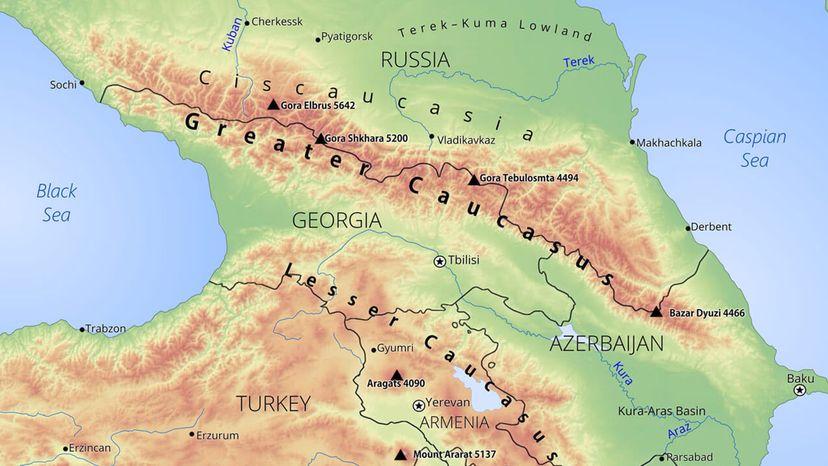 Greater Caucacus region