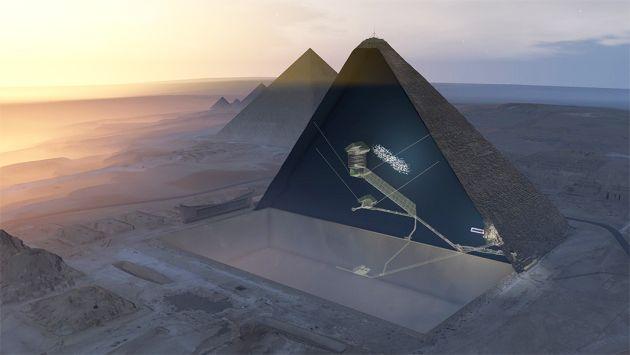 great pyramid hidden chamber visualization