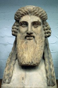 Dionysus, depicted here, is the Greek god of wine -- as well as drunkenness, parties and madness.