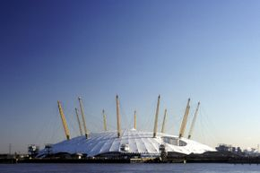 The Millennium Dome cuts an unmistakable profile in the London skyline.
