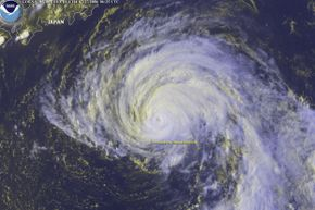 A shot like this (of 2004's Typhoon Namtheun) was all part of the day's work for GOES 9.
