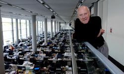 Norman Foster at the headquarters of Foster + Partners in 2005.