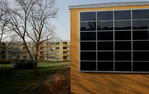 """This building in Germany was """"greened up"""" with thermal windows and insulation, among other things. See more pictures of green living."""