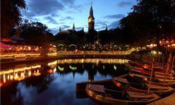 A view of Copenhagen, Denmark from the Tivoli Gardens.