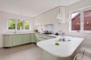 Plastic can be eco-friendly, if you choose a countertop with a high percentage of recycled material.