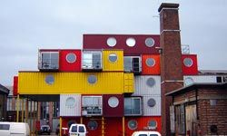 Container City 2, a set of attractive work/live studio spaces in Leamouth, London, was made from 30 shipping containers.