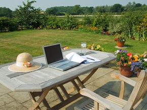 Bring the environment into your home office. See more pictures of green living.