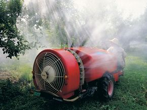 This monster pesticide sprayer is pretty much the opposite of green landscaping.