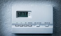 A programmable thermostat remembers to control your HVAC system, so that you don't have to.